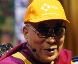 De dalai lama in Nederland 2014
